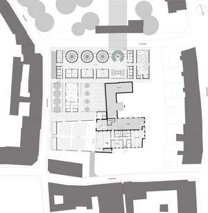 Erdgeschossgrundriss mit tufa erweiterung